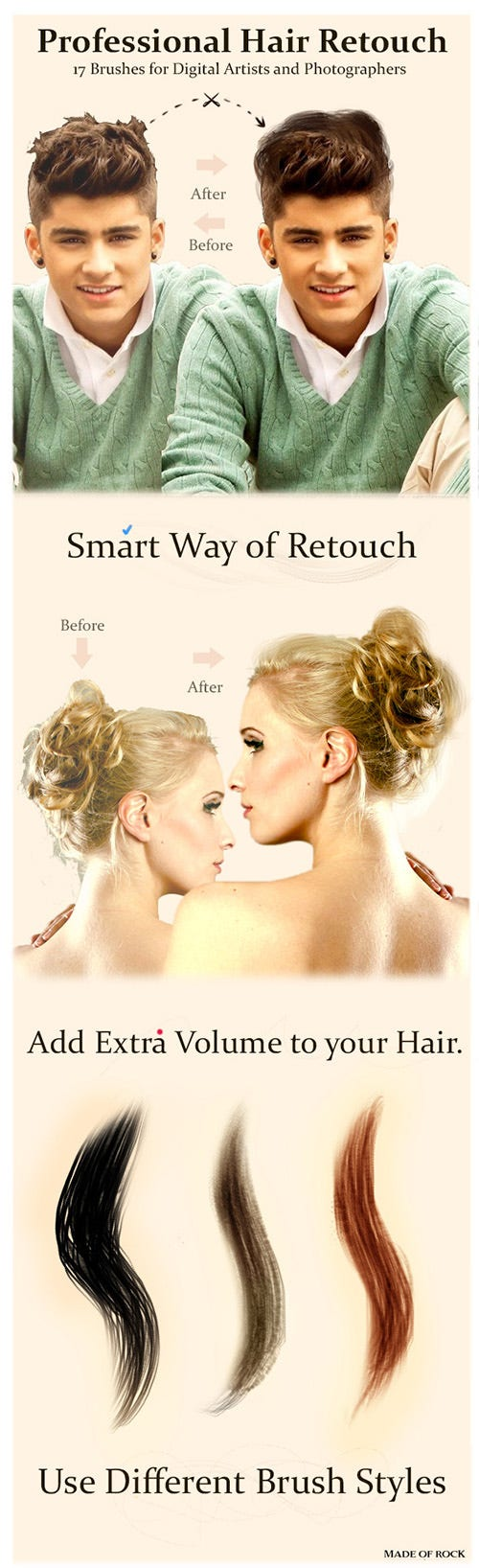 17 professional hair retouch brushes