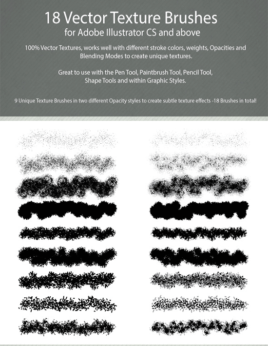 18 vector texture brushes