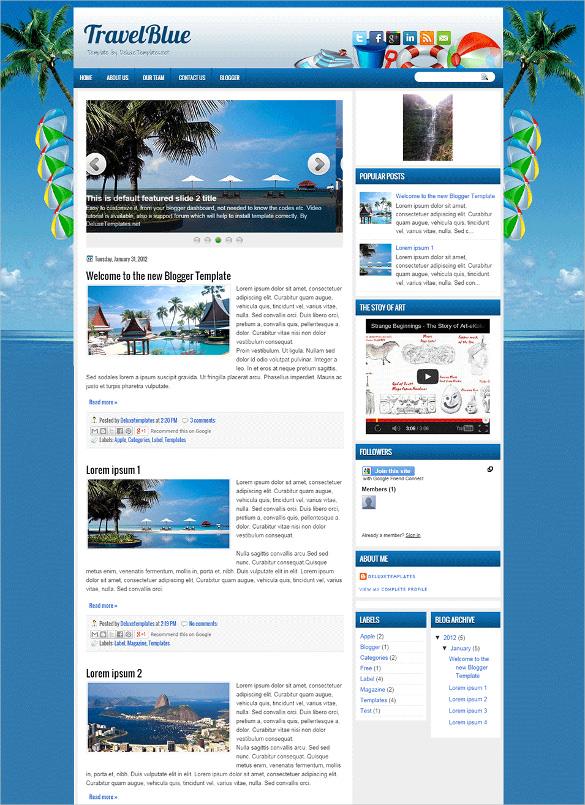 templates blogger best collection travel tourism
