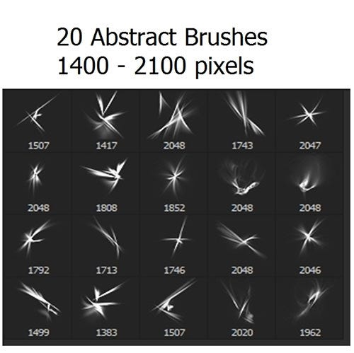 20 abstract brushes