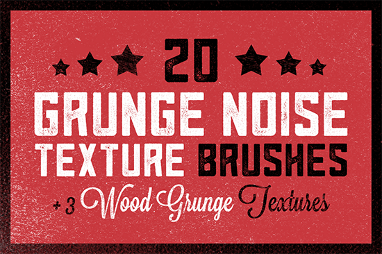 20 grunge noise texture brushes