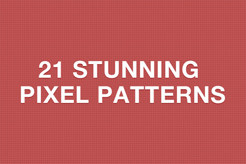 21 stunning pixel patterns