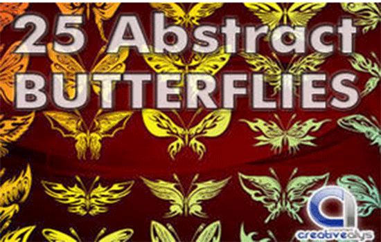 25 abstract butterflies