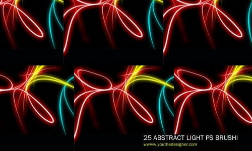 25 abstract light brushes vol