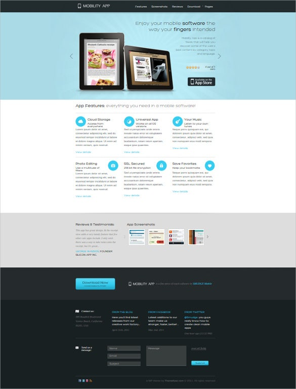 Mobile web app themes android