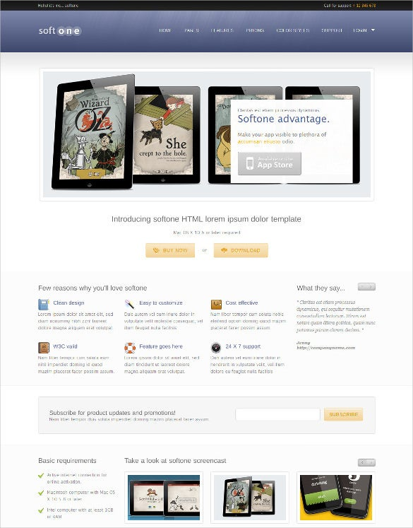 softone software app html template1