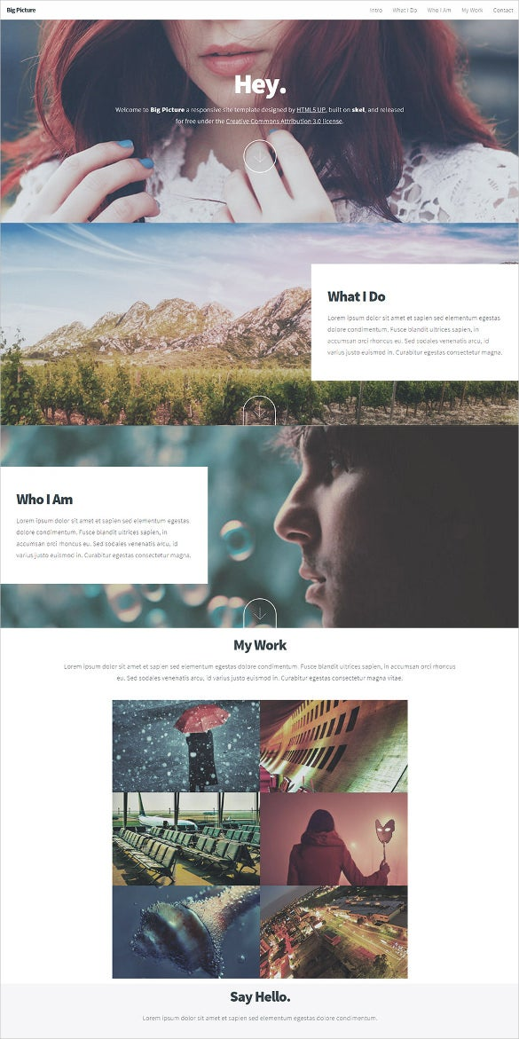 big picture html5 website template