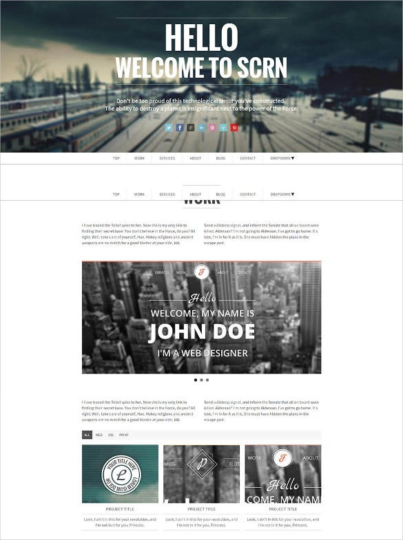 responsive parallax html5 template