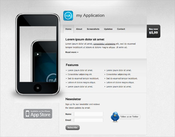 mobile application app template