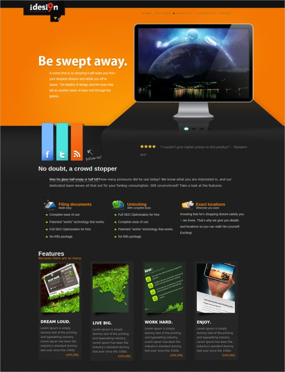 corporate business html app template