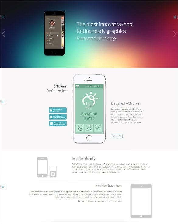 premium app showcase wordpress theme