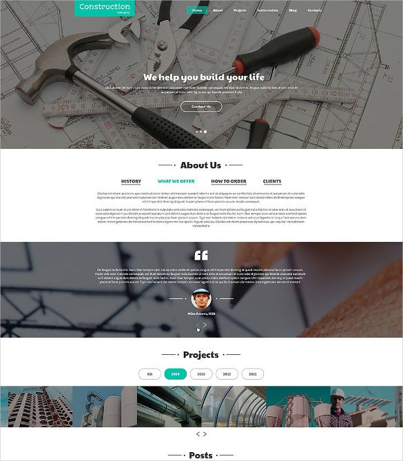 construction companies joomla html5 website template