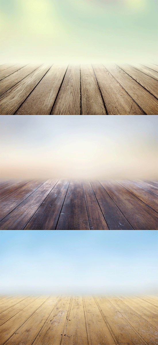 3 infinite wooden floors