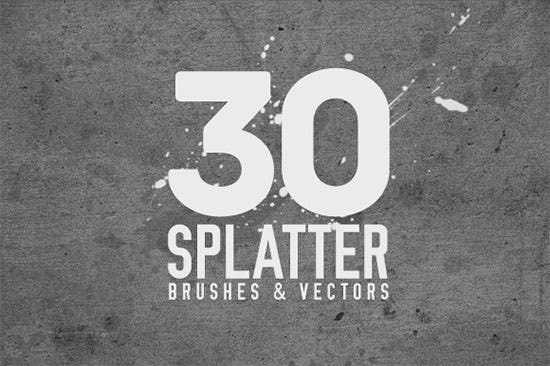 30 splatter brushes111