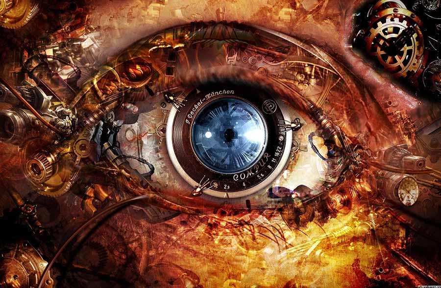 3d abstract eyes wallpaper1