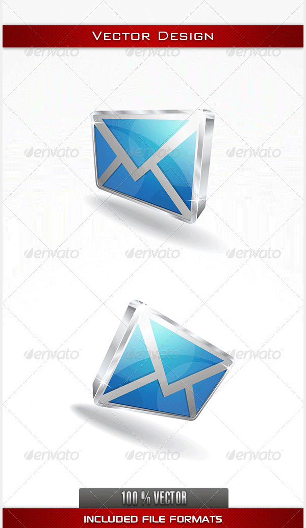 3d email vector icon2