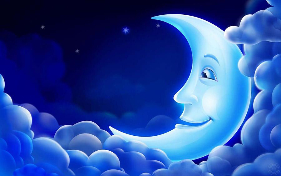 3d smiling moon wallpaper copy