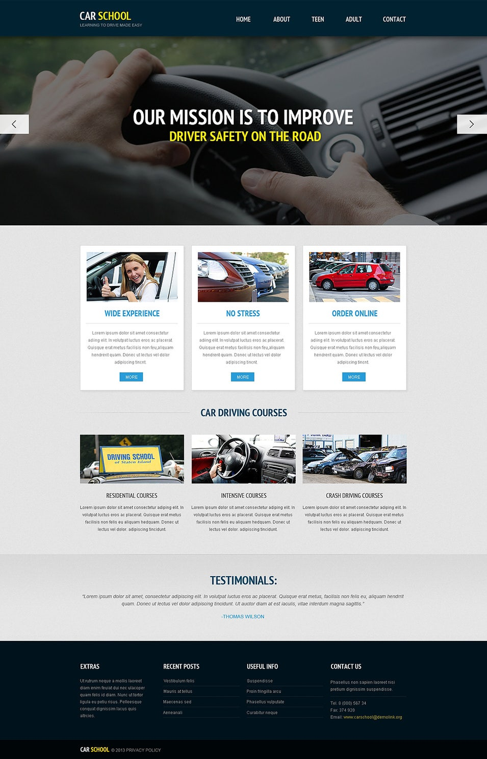 20 best driving school website templates free premium templates. Black Bedroom Furniture Sets. Home Design Ideas