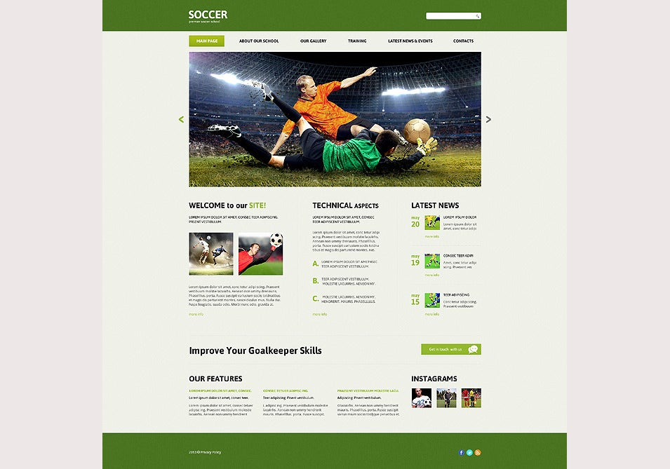 Free joomla 1. 0. X templates: football league by themza.