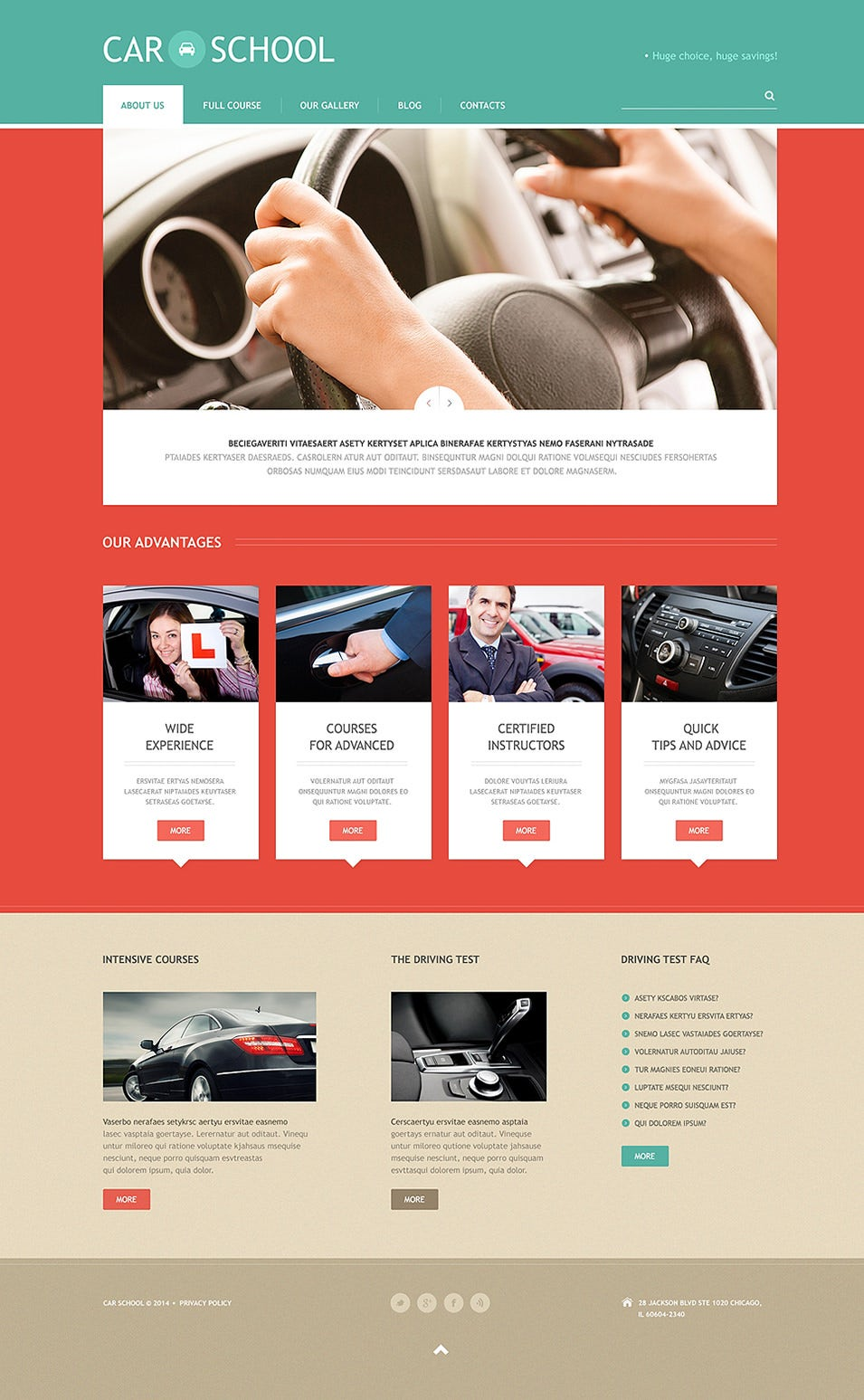 Best Driving School Website Templates Free Premium Templates - Brochure website templates