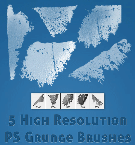 5 high res grunge brushes