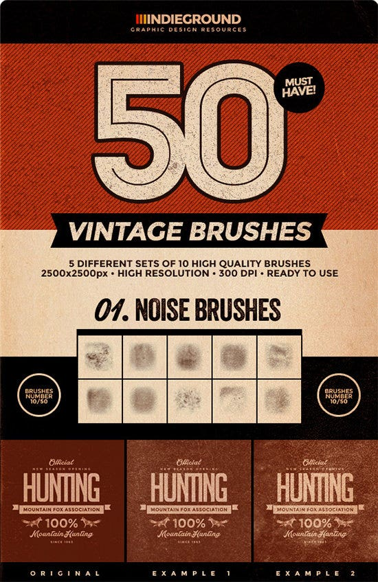 50 vintage brushes set1