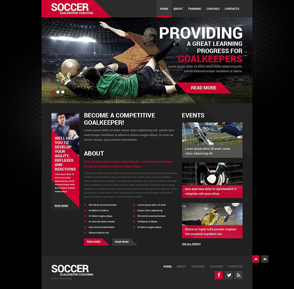 27+ Soccer Club Website Themes & Templates | Free & Premium Templates
