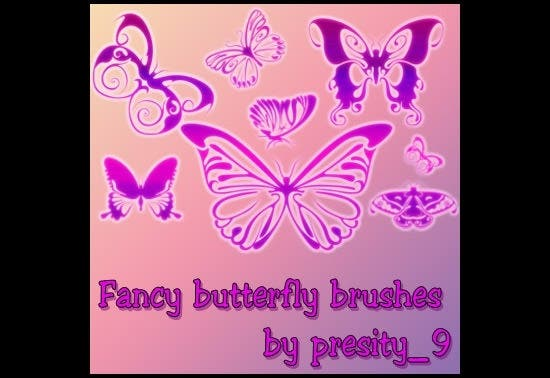 7 fancy butterfly brushes
