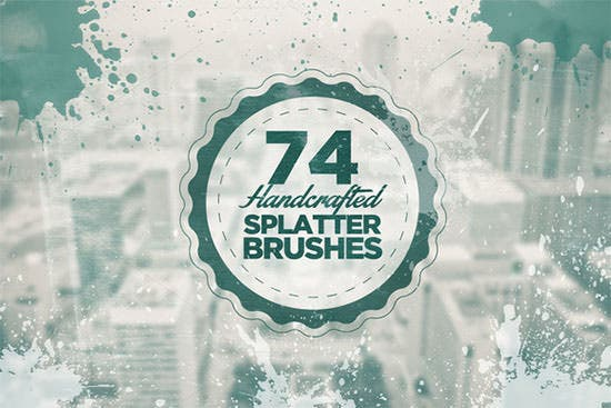 74 handcrafted splatter brushes111
