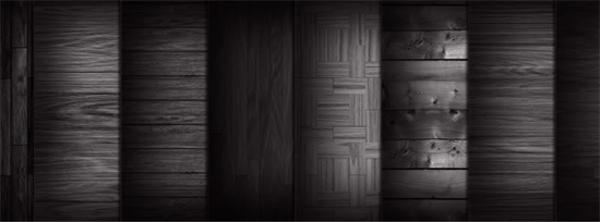 8 tileable dark wood textures