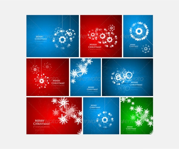 Abstract Christmas composition pack