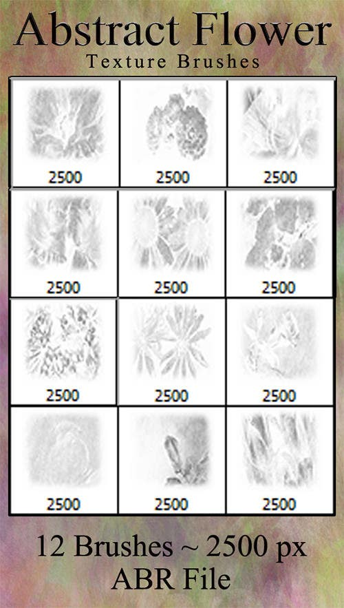 abstract flower texture brushes