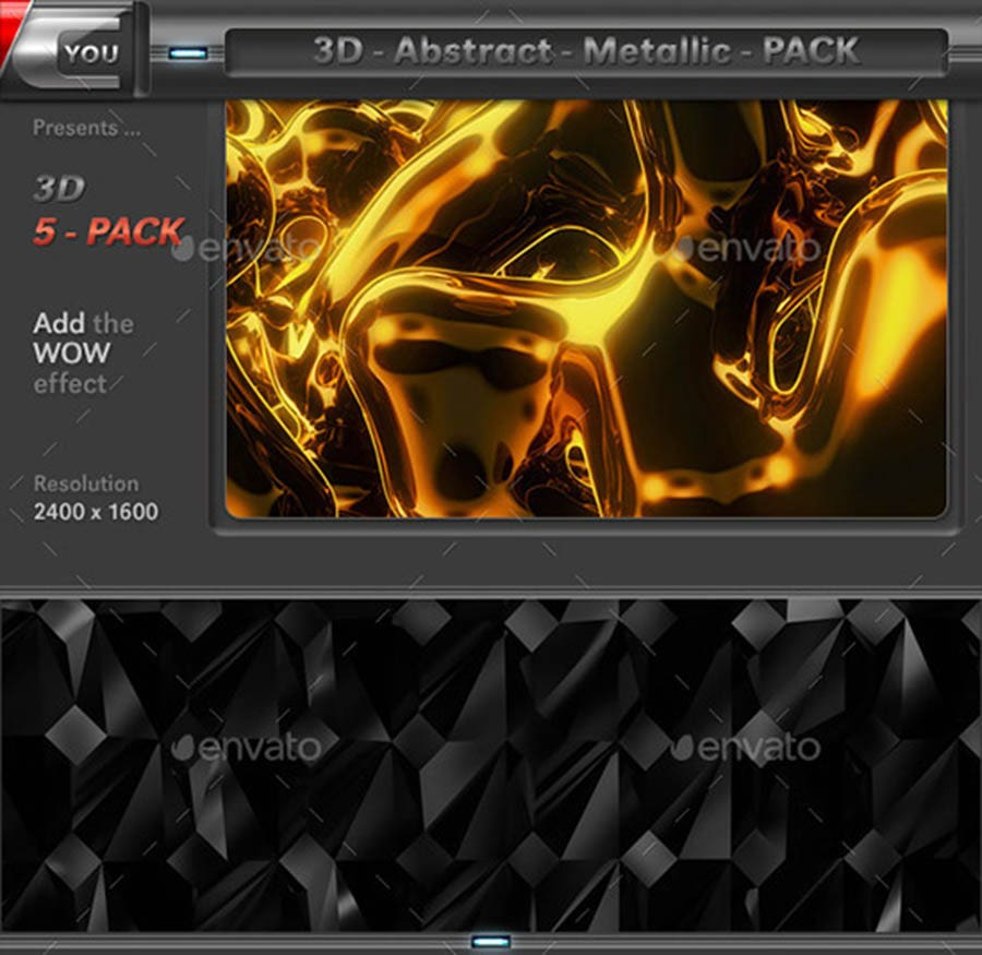 abstract metallic pack copy
