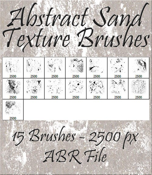 abstract sand texture brushes