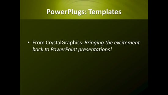 abstract green background ppt