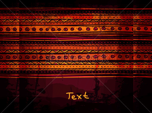 abstract hand drawn ethnic design1