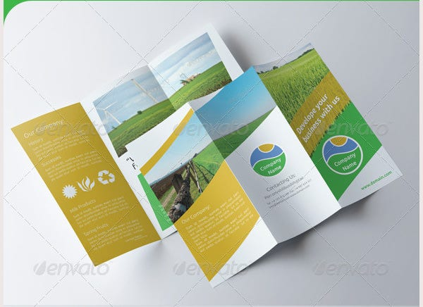 agriculture tri fold brochure