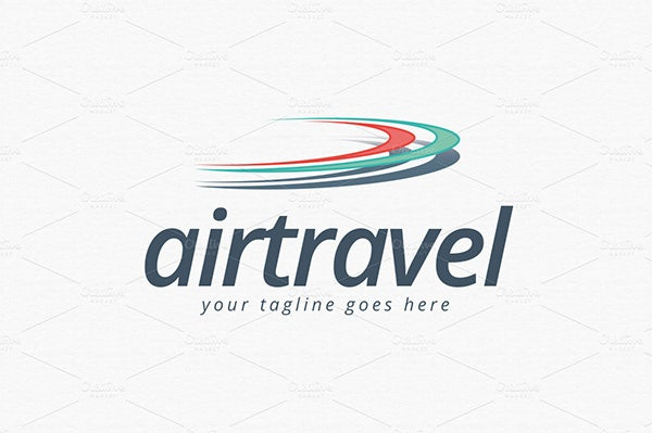 air travel logo template