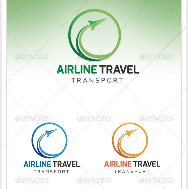 airline travel transport logo