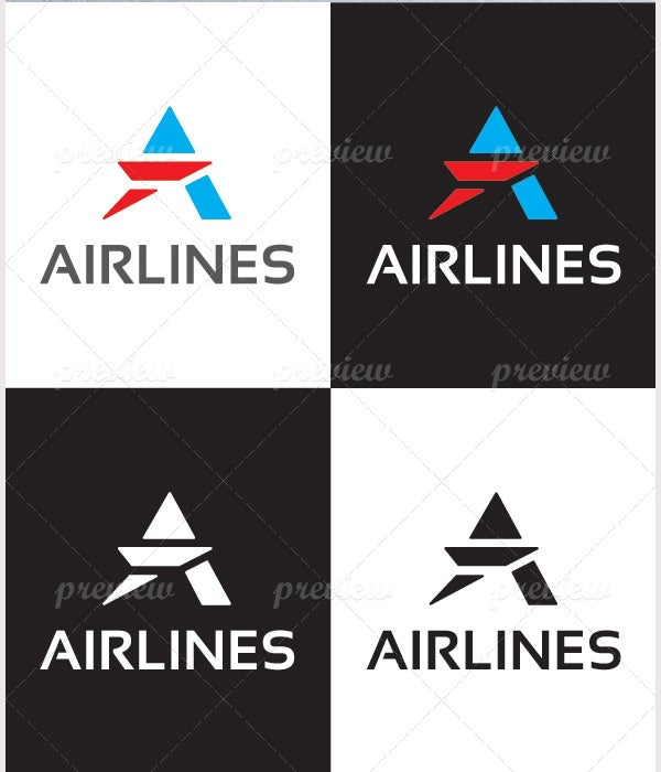 airlines logo template