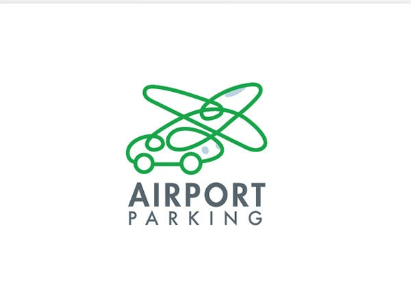 Airport Parking Plane and Car logo
