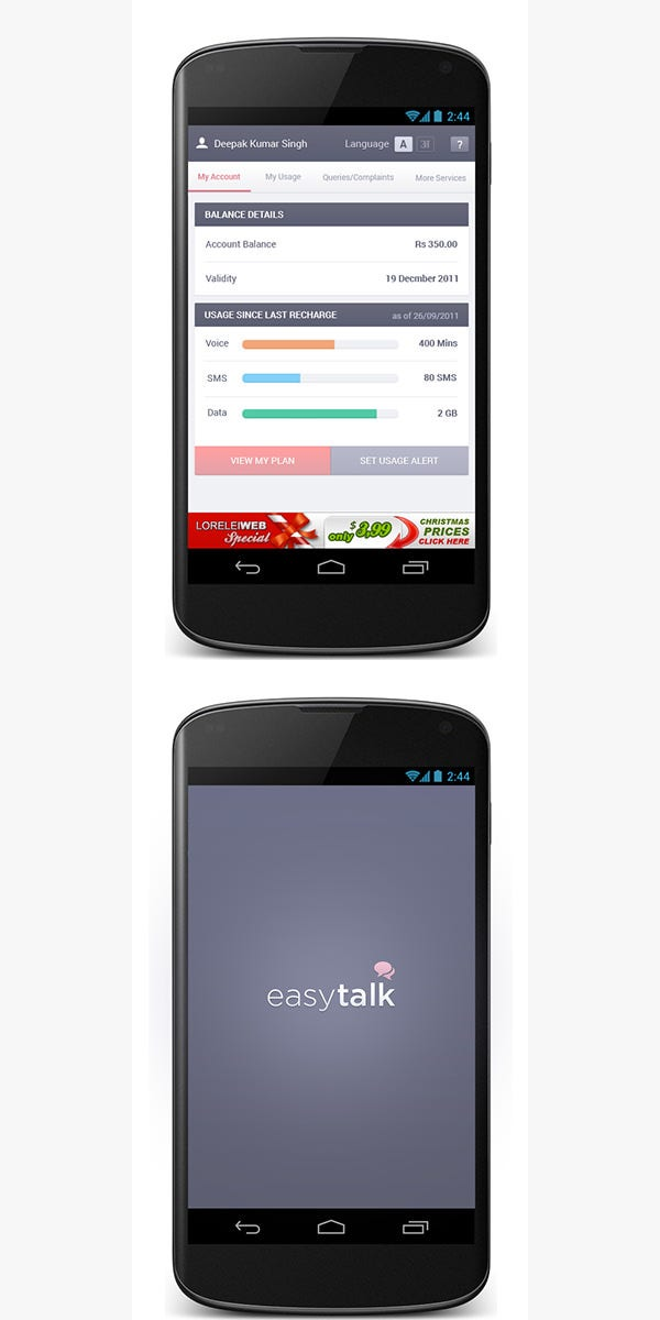 android app design concept