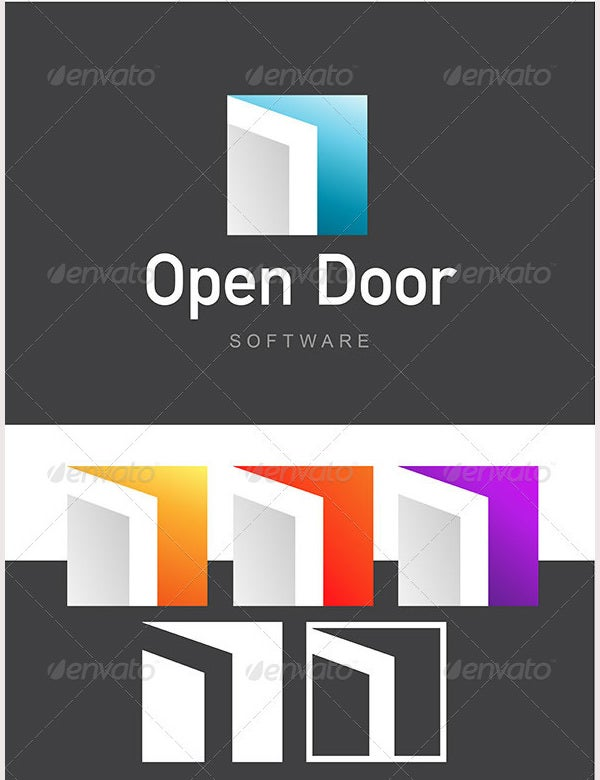 architecture logo open door