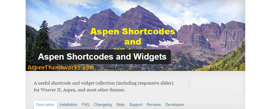 aspen shortcodes and widgets1