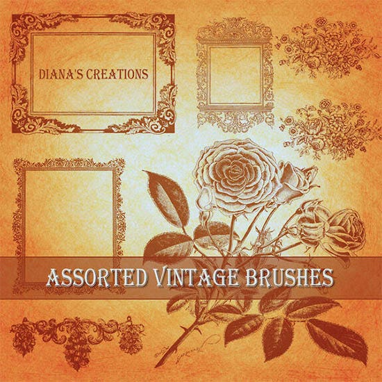 assorted vintage brushes