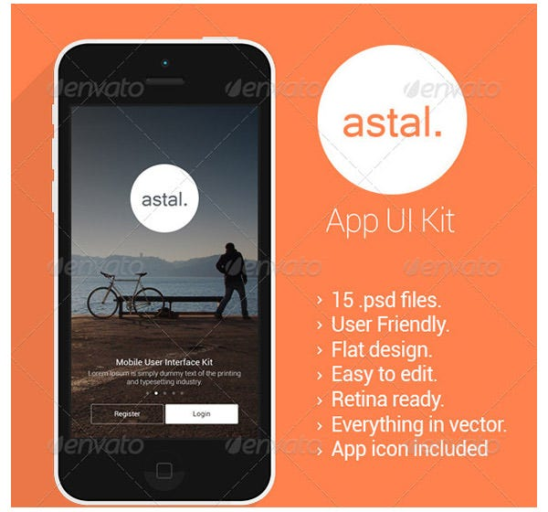 astal flat mobile ui design graphicriver copy