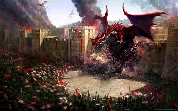 attack of the red dragon wallpaper copy