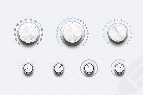 audio ui controls buttons