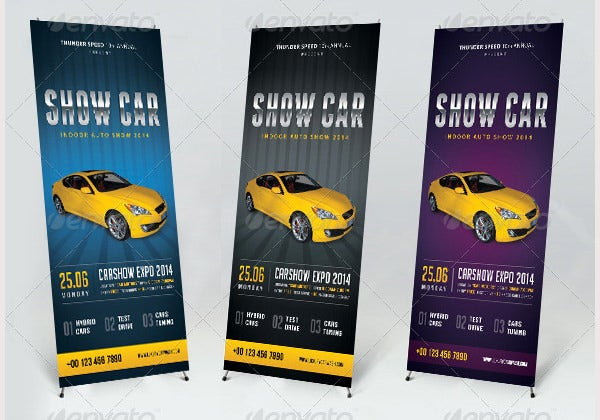 auto showroom banner template