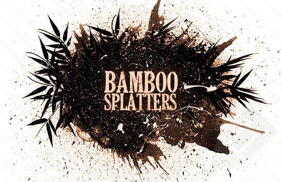 bamboo splatter brushes